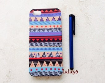 Aztec Tribal Iphone 5 5S Case Cover with with a Stylus Teen Gift Trendy