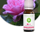 Pure Rose oil- 100% Rose Otto- Undiluted Rose Essential oil- Rosa damascena- Natural Skin care - Organic Rose oil- Bath & beauty care- Otto