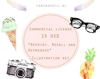 Commercial License  Illustration Set