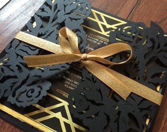 the great gatsby invitations - Great Gatsby Wedding Invitations