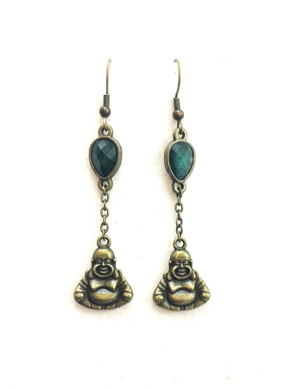buddha jewelry buddha earrings spiritual jewelry dangle