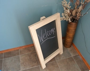 Antique White Chalkboard Easel - Rustic Country Decor