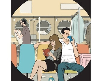 "Adrian Tomine ""Laundromat"" print"