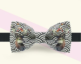 Deer Bowtie - Brown bowtie - Novelty Bowtie- Character Bowtie- Special bowtie