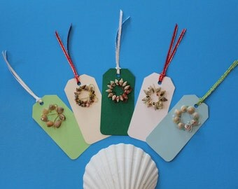 Sea Shell Wreath Gift Tags