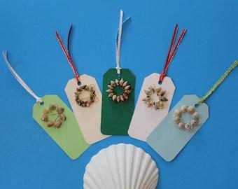 Sea Shell Wreath Gift Tags
