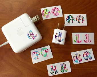 Lilly Pulitzer Monogrammed Charger Decal iPhone iPad Apple Mac Computer
