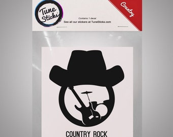 Country - Country Rock v2 [Music genre vinyl decal]