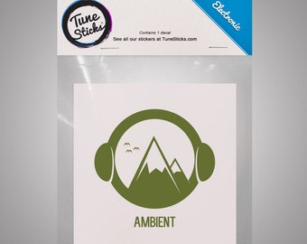 Electronic - Ambient [Music genre vinyl decal]