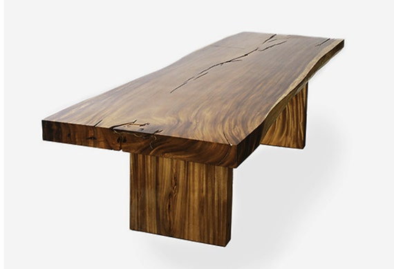 Items similar to slab dining table on etsy Live wood coffee table