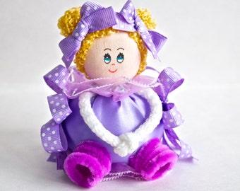 Unique Baby Shower Favor Girl- Purple - Baby Girl Shower Favor - Handmade Baby Shower Favor