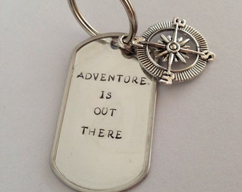 Adventure is Out There Keychain
