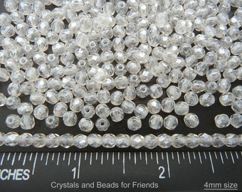 600 Crystal Hematite White Luster coated 4mm, Preciosa Czech Fire Polished Round Faceted Glass Beads, Czech Glass Fire Polish Beads, loose