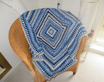 Crochet granny square throw/Crochet granny square blanket