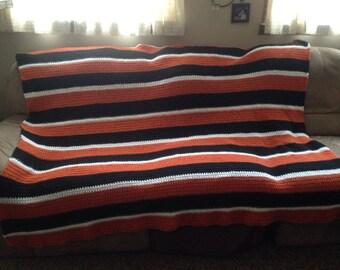 Crocheted flyers blanket