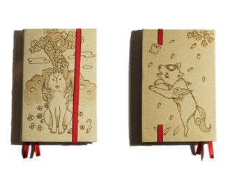 Okamiden and Okami inspired refillable leather notes