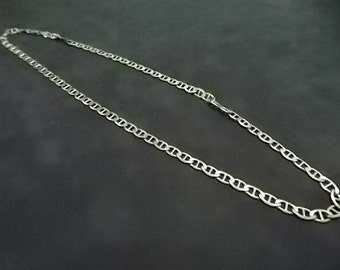 Vintage Estate .925 Sterling Silver Chain Necklace Made in Italy 25g E1587