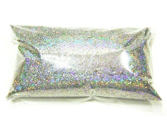 "2oz / 59ml Silver Jewels Holographic Solvent Resistant Polyester Glitter .015"" - Poly Holo Glitter - Nail Art - Crafts & Hobbies - LF062"
