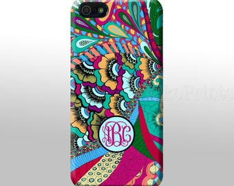 iPhone 6 Galaxy S6 S6 Edge Flower Pattern, Japanese Monogrammed iPhone 4/4S 5/5S 5C 6 Galaxy S4 case Personalized phone case