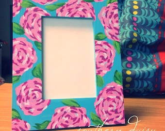 lilly pulitzer inspired first impression picture frame