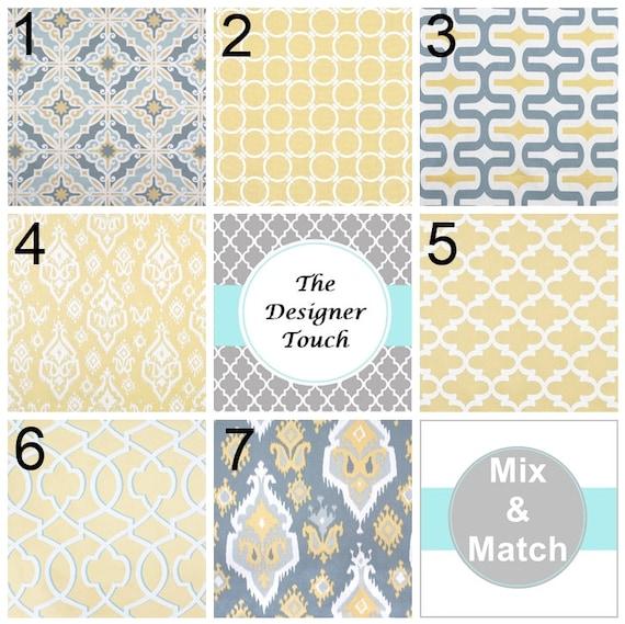 Saffron Yellow Curtains Yellow Grey Curtains Geometric Curtains Ikat ...