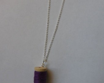 Cotton reel necklace