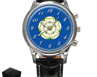 Yorkshire Rose County Flag Gents Mens Wrist Watch  Gift