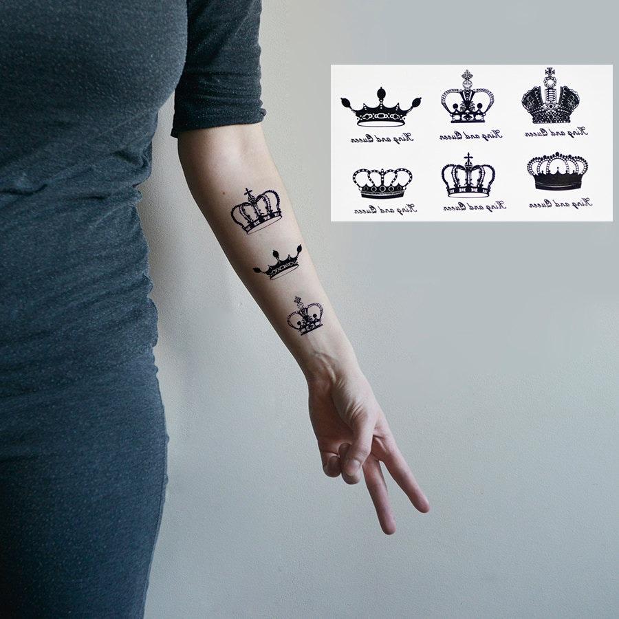 tatouage temporaire stickers tatouage petit couronne. Black Bedroom Furniture Sets. Home Design Ideas