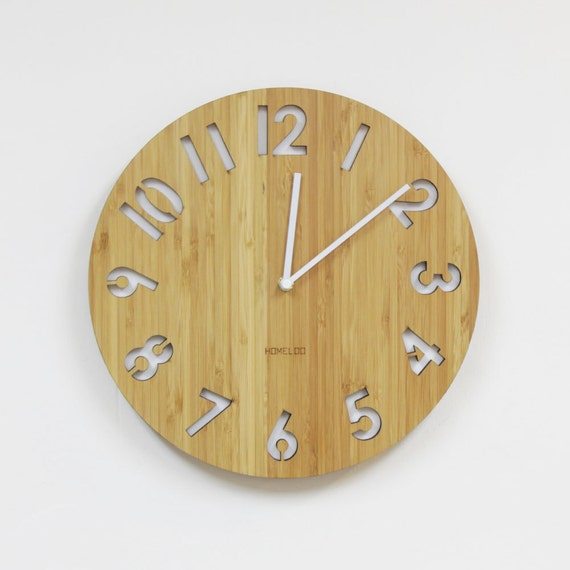 Modern All Numbers Wall Clock White By Homeloo On Etsy