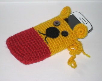 Crochet pattern cell phone case - Cell phone cozy tutorial - Crochet Iphone cover PDF pattern