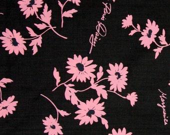 Pink Daisy in Black by Suzuko Koseki Half Yard