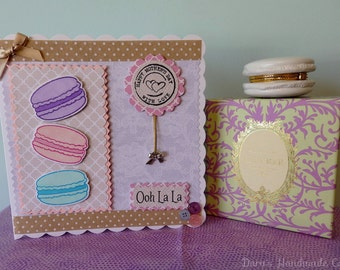 Handmade Personalised Macaron Card - Birthday, Thank You, Any Occasion!