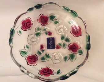 Lovely Mikasa Rose garden Tidbit Dish, Made in Germany.