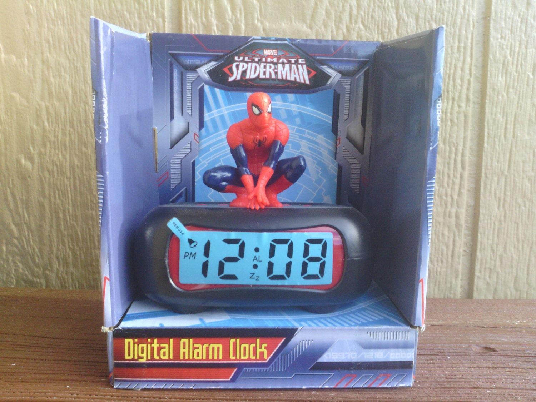 The amazing spiderman digital alarm clock marvel for Amazing alarm clocks