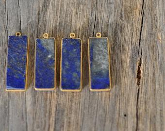 Blue Lapis Gold plated Bezel Pendant