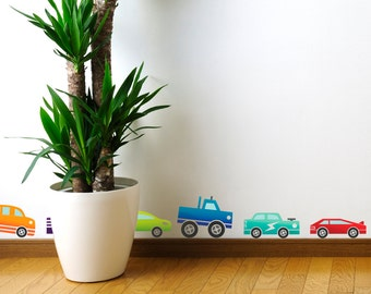 Coloured Cars Wall Stickers