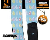 Custom Just Sockz Egg Pattern