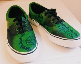 Custom Ingress Enlightened Vans Hand-painted Shoes