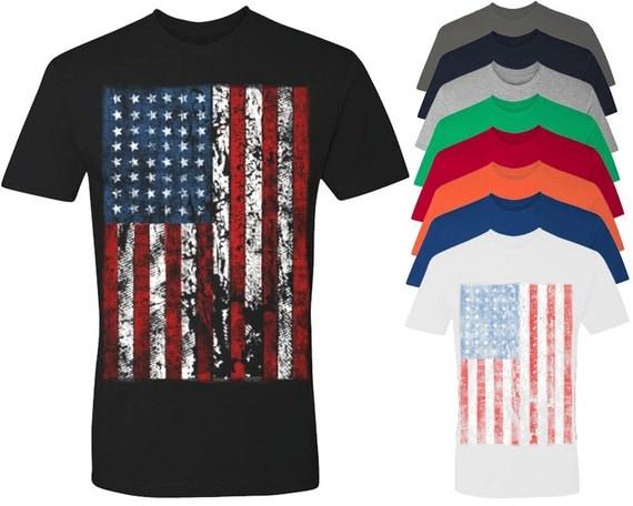 Vintage Usa Flag Men 39 S T Shirt 4th Of July Shirts