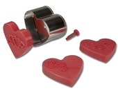 STADTER / Cookie cutter / Hearts DECORATION EJECTOR cutter / Metal cookie cutter