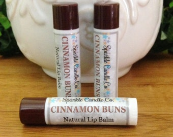 CINNAMON BUNS Natural Lip Balm - 15 oz. - Natural  Lip Butter
