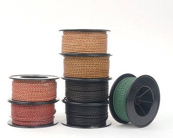 Speciel offer 3 mm(0.12inch)twist antic color bolo braided leather, bracelet items, leather supplies-BSRNDM-003