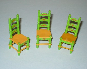 1980 Mattel THE LITTLES Dollhouse Chairs Set of 3