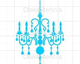 OLG053 Chandelier stencil