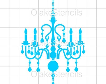 Chandelier stencil etsy olg053 chandelier stencil mozeypictures Images