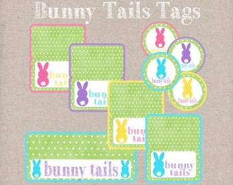 Easter gift tags etsy bunny tails bag toppers and gift tags fun easter gift tags instant digital download negle Image collections
