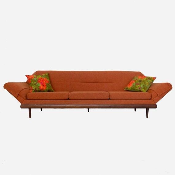 Flexsteel Sofa Vintage: Items Similar To Vintage Mid-Century Flexsteel Sofa With
