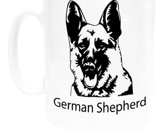 I Love My Dog Coffee Mug - German Shepherd