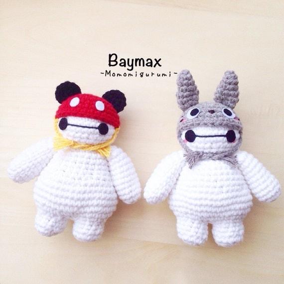 Crochet Amigurumi Baymax Pattern : Crochet baymax with hatbaymax amigurumi