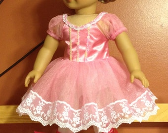 """American girl or 18"""" doll ballet dress wirh shoes"""